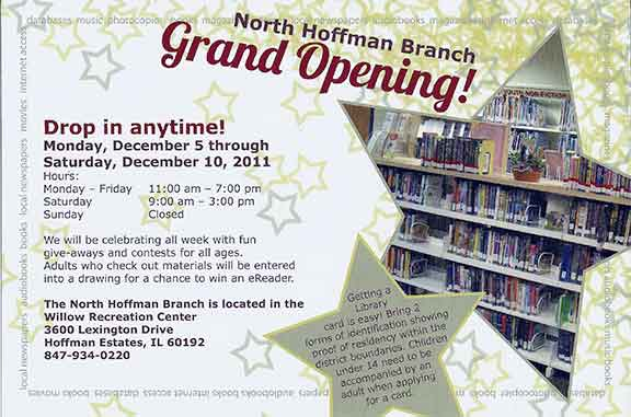 Library Grand Opening Postcard