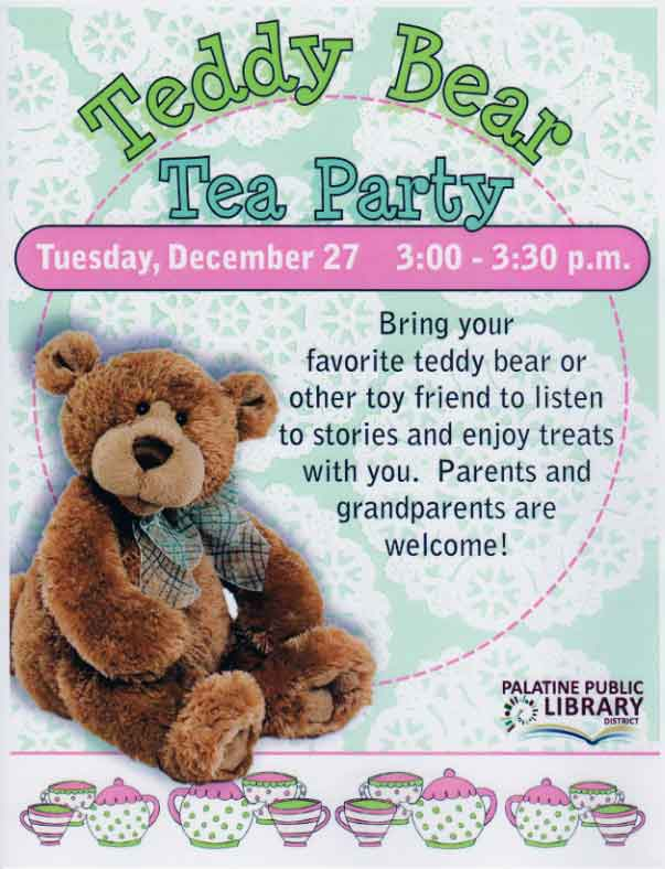 Teddy Bear Tea Party Poster
