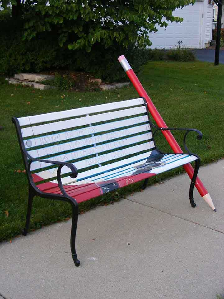 Park Bench Design for Palatine Chamber of Commerce Auction